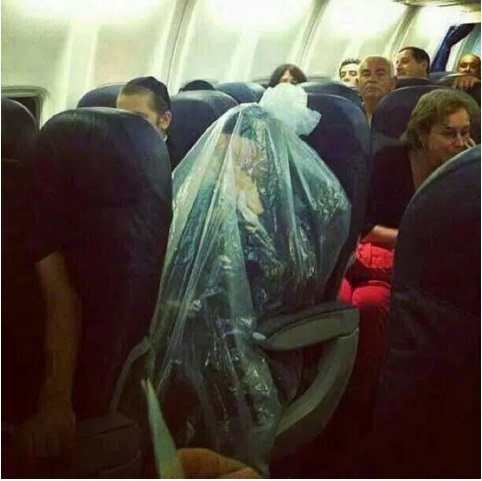 passager en plastique avion